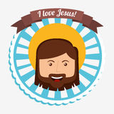 I love jesus design. Vector illustration eps10 graphic Stock Photography