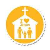 I love jesus design. Vector illustration eps10 graphic Royalty Free Stock Image
