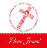 I love jesus design Royalty Free Stock Photography