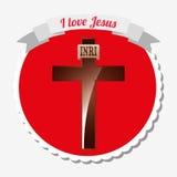 I love jesus design Stock Images
