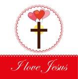 I love jesus design Royalty Free Stock Image