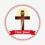 I love jesus design Stock Photo