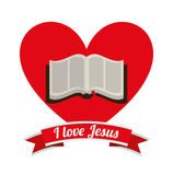 I love jesus design. Vector illustration eps10 graphic Stock Photos