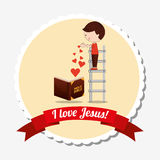 I love jesus design. Vector illustration eps10 graphic Royalty Free Stock Photography