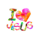 I love Jesus. Vector inscription Stock Photo