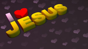 I Love Jesus Word Background Royalty Free Stock Photography