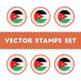 I Love Jordan vector stamps set. Stock Photography