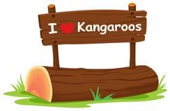 I love Kangaroos Royalty Free Stock Image