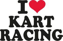 I love Kart racing. Vector Royalty Free Stock Photos