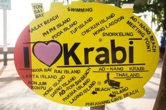 I love krabi sign in Ao Nong city , Krabi Thailand. I love krabi sign in Ao Nong city Krabi Thailand Royalty Free Stock Image