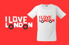 I love London. Print on T-shirts, sweatshirts and souvenirs, cases for mobile phones, vector illustration. I love London. Print on T-shirts, sweatshirts and stock illustration