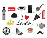 I love London symbol icons, vector Royalty Free Stock Image