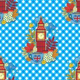 I love London and tea time. Design for background and wallpaper. Vector seamless pattern. I love London and tea time. Design for background and wallpaper royalty free illustration