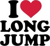 I love Long Jump. Vector vector illustration