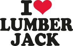 I love lumber jack. Vector Royalty Free Stock Photos
