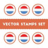 I Love Luxembourg vector stamps set. Royalty Free Stock Photography
