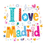 I Love Madrid typography lettering design Royalty Free Stock Photo