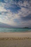 I love Maldives, beautiful tropical beach Royalty Free Stock Photos