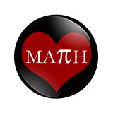 I Love Math button Stock Photography