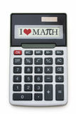 I Love Math Calculator Stock Photo