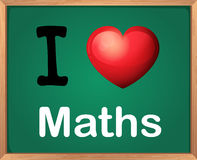I love Math Stock Photo