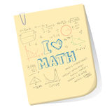 I Love Math Royalty Free Stock Photography