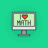 I Love mathematics symbol Stock Photos