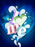 I Love Me Illustration Royalty Free Stock Photo