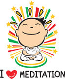 I love Meditation Royalty Free Stock Photo