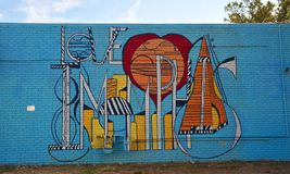 I Love Memphis mural, Memphis, Tennessee. Royalty Free Stock Photos