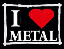 I love metal. Grunge illustration of love to metal music Royalty Free Stock Photos