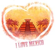 I Love Mexico design Stock Photography