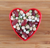 I love mixed legume beans Royalty Free Stock Photography