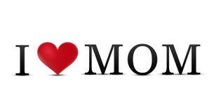 I love mom. I heart mom Stock Image