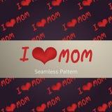 I Love MOM. Background vector illustration Royalty Free Stock Photography