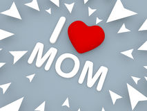 I love mom, 3d concept Stock Photo