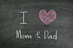 I love mom & dad Royalty Free Stock Images