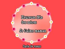 I love mom, french, illustration. Photo of abstract image, I love mom with decoration, illustration, to beautify a website. Enriched your website professionally Royalty Free Stock Photos