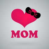 I love mom, happy mothers day. For graphic design Stock Photos