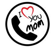I Love Mom Icon Design Royalty Free Stock Photography