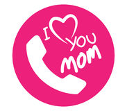 I Love Mom Icon Design Stock Images