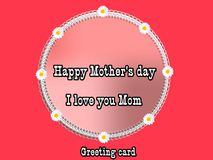 I love mom, illustration. Photo of abstract image, I love mom with decoration, illustration, to beautify a website. Enriched your website professionally with Royalty Free Stock Images