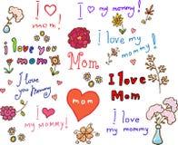 I love mom! set Royalty Free Stock Photo
