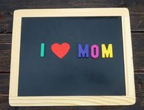 I love mom sign Royalty Free Stock Images