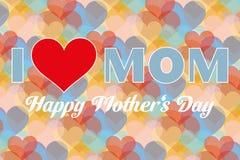 I love mom - Stock Illustration. Happy mother day background I love mom - vector illustration stock illustration