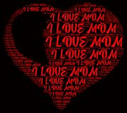 Word cloud I love mom. I love mom word cloud concept Stock Photo