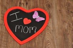 I love mom written on a blackboard Royalty Free Stock Photography