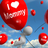 I Love Mommy Balloons Shows Affectionate Feelings for Mother Royalty Free Stock Photography