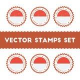 I Love Monaco vector stamps set. Royalty Free Stock Image