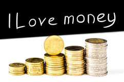 I Love money Stock Photos